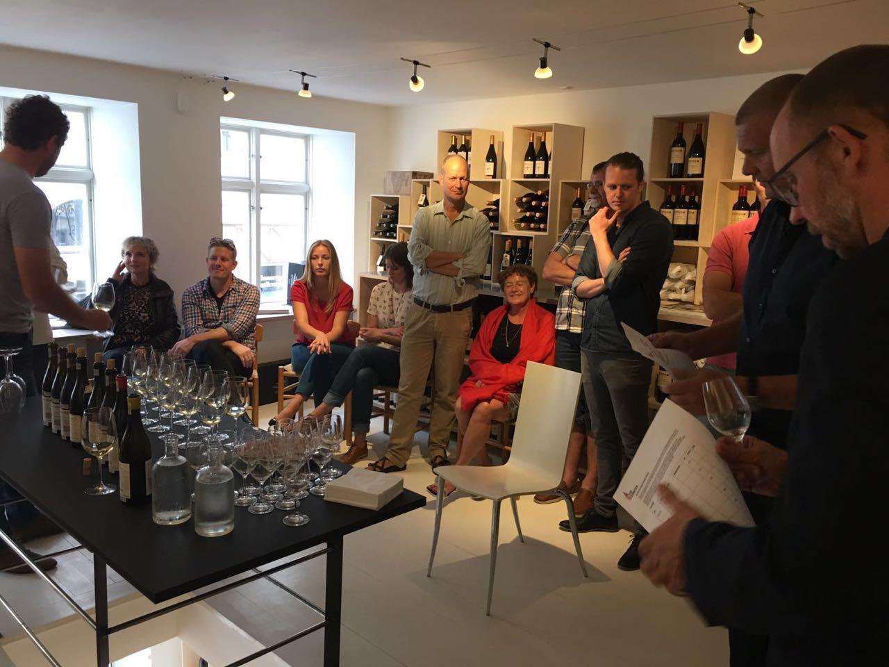 Smagning med vinkunstner David Sadie